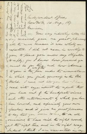 Cover of: [Letter to] My Dear Garrison | Johnson, Oliver