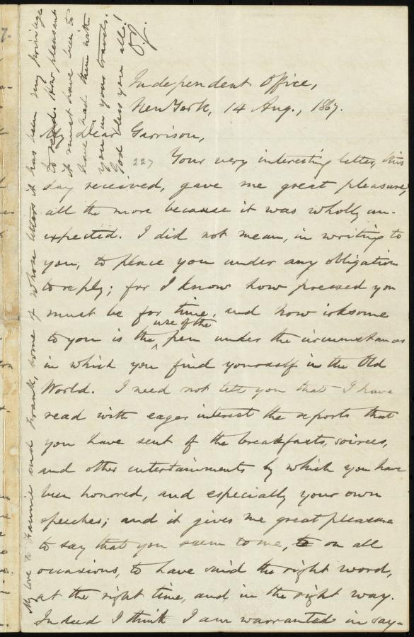 [Letter to] My Dear Garrison by Johnson, Oliver
